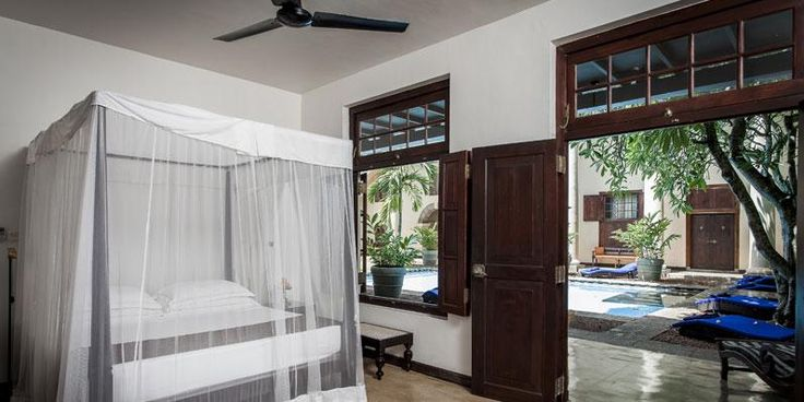 Galle Fort Hotel Garden Rooms. One of the best in Galle boutique Hotels has Garden rooms open out into the hotel courtyard and garden.