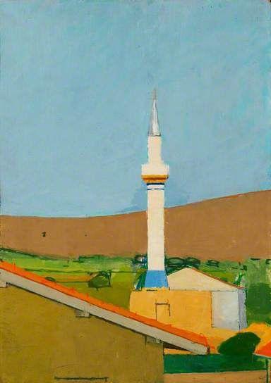 #oil #painting- The Mosque at Çiftlik Köyü by Euan Uglow