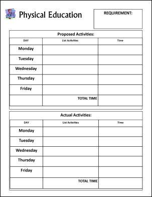 Physical Education Record Keeping Form
