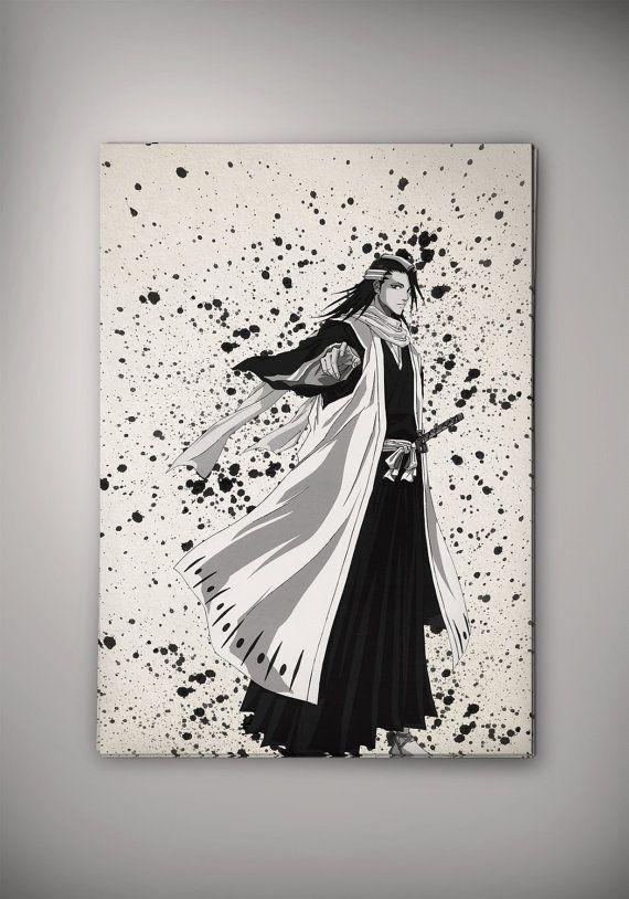 Wall Art Decor Posters : Bleach byakuya watercolor illustrations art print wall