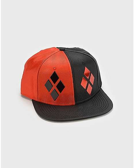 5cb5c3660d460 Diamond Harley Quinn Snapback Hat - Spencer s