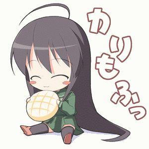 super cute chibi eating bread   Chibi's and Manga and ...