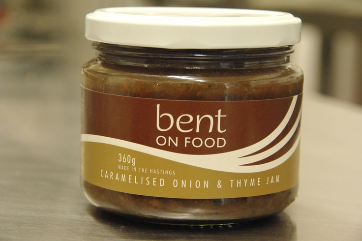 Our new product, Bent on Food Caramelised Onion and Thyme Jam