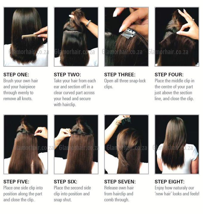 Best Way To Put In Clip In Extensions Human Hair Extensions