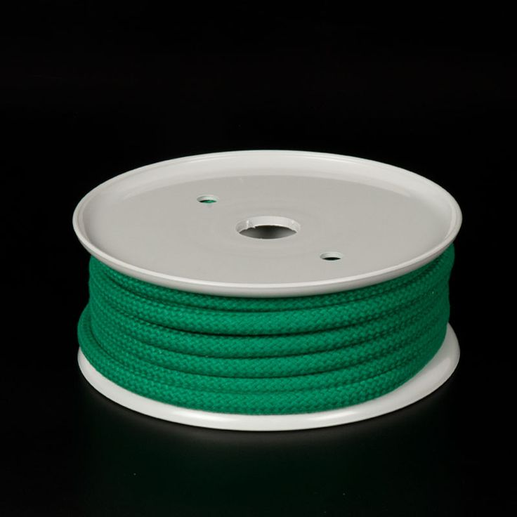 CUERDA POLIÉSER COLOR VERDE - Gama de cuerdas de poliéster de 5 colores y 3 grosores apropiadas para aplicaciones tales como manualidades, joyería, amarres ligeros, ...