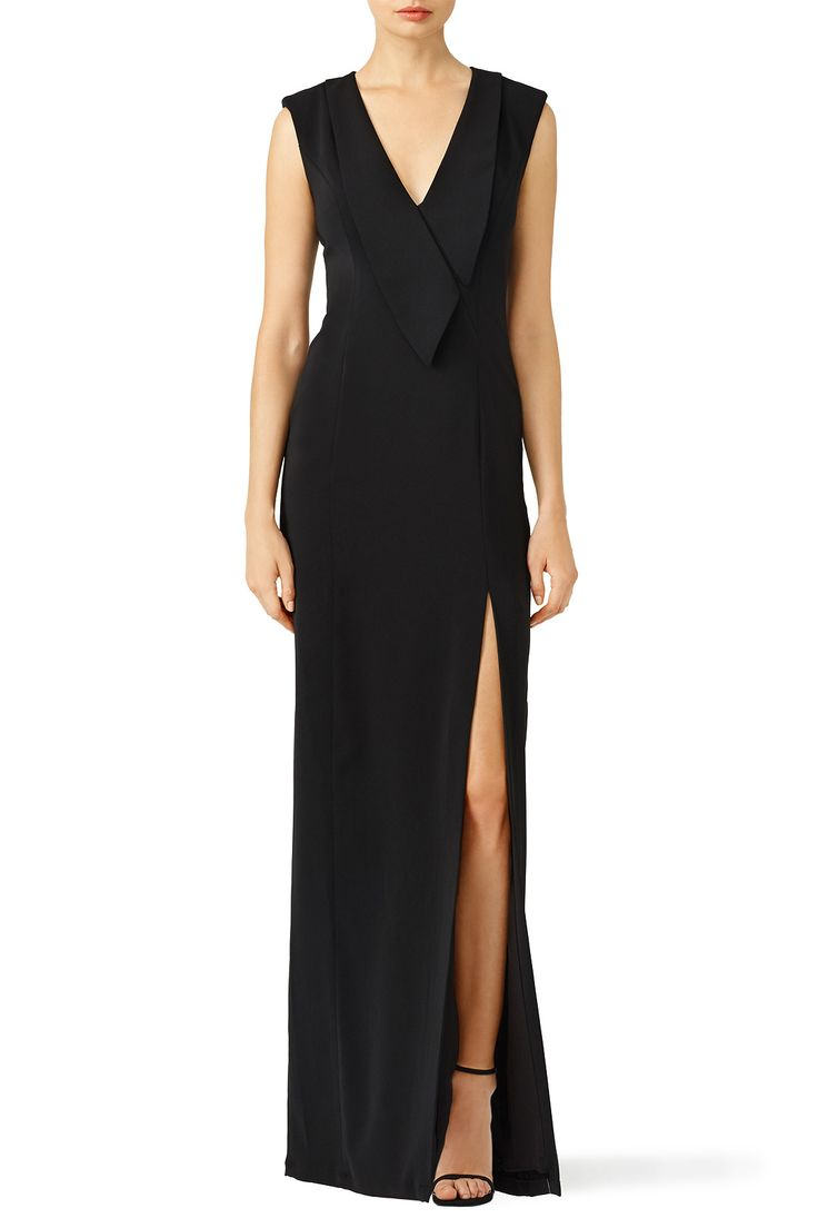 Tuxedo Wrap Gown by Slate & Willow for $90 | Rent the Runway