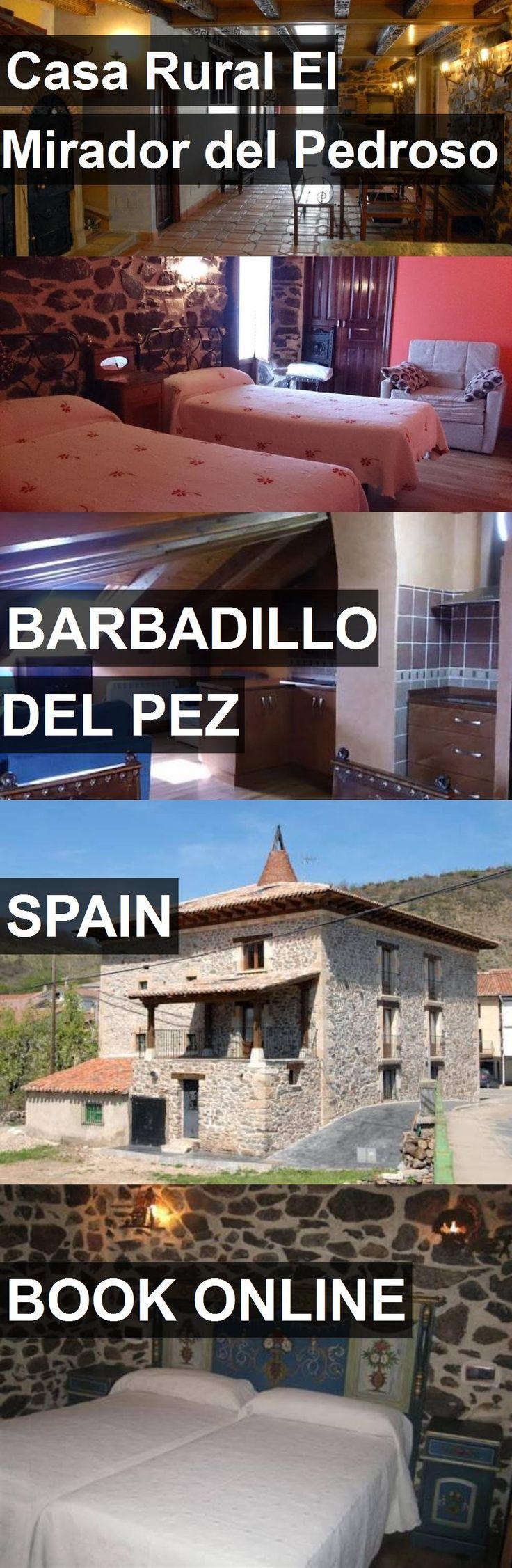 Hotel Casa Rural El Mirador del Pedroso in Barbadillo del Pez, Spain. For more information, photos, reviews and best prices please follow the link. #Spain #BarbadillodelPez #travel #vacation #hotel