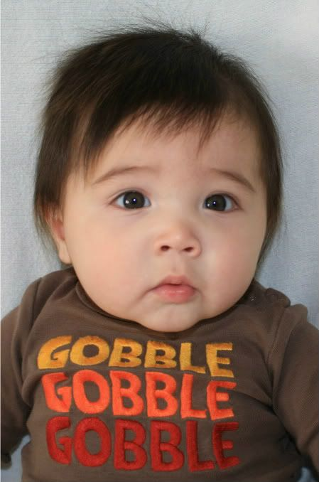 Gobble Gobble all the cuteness! Half Chinese, half white. Cute mixed Asian baby!