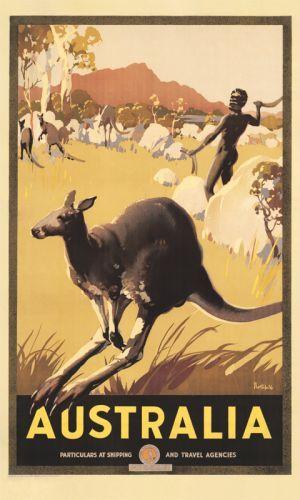 Australian Vintage Travel Poster by James Northfield