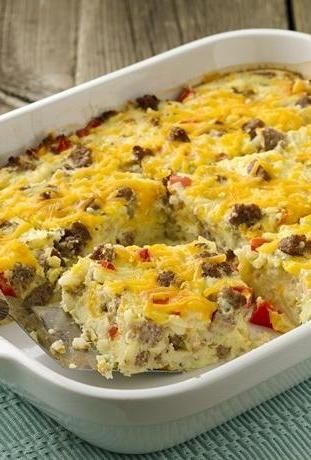 Healthified Impossibly Easy Breakfast Bake