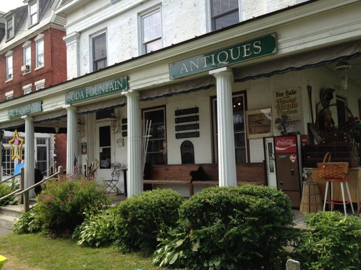 A wonderful old school Vermont ice cream/candy and antiques shop. neat candy options you don't see much anymore, real Vermont ice cream, and a huge chair your whole family can sit in outside. Mention camp if you go.