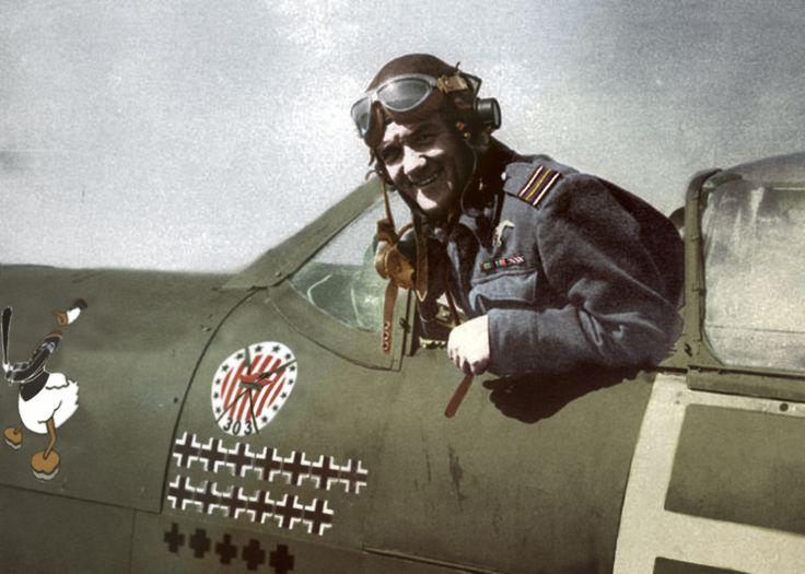 """Jan Zumbach – """"Kaczor Donald"""", podniebny wojownik. Dowódca Dywizjonu 303"""