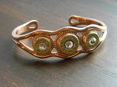 Triple Threat Genuine Copper Bullet Bracelet
