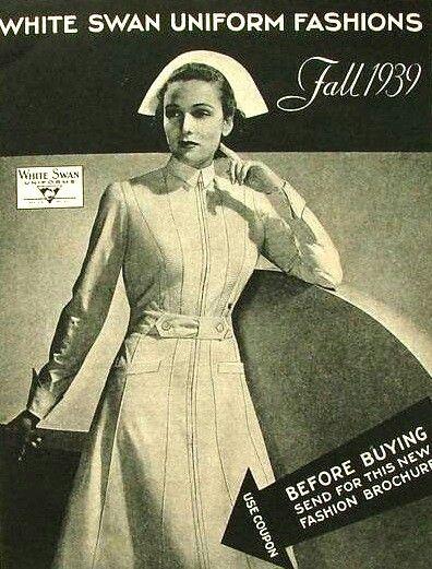 Vintage nursing uniform. White Swan Uniform Fashions