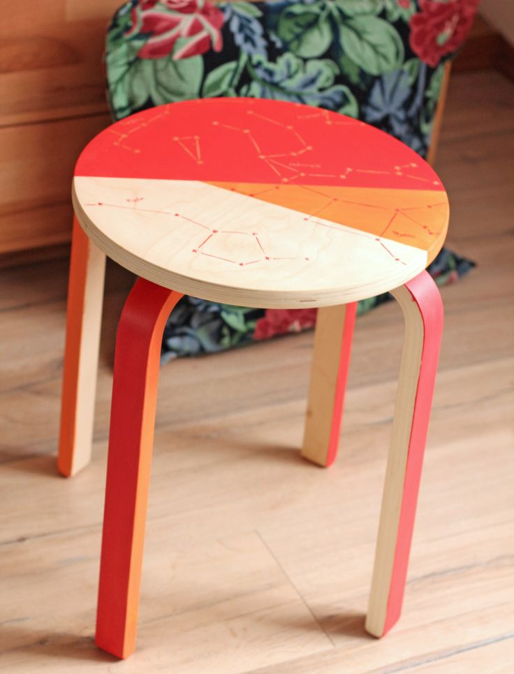 DIY: constellation stool