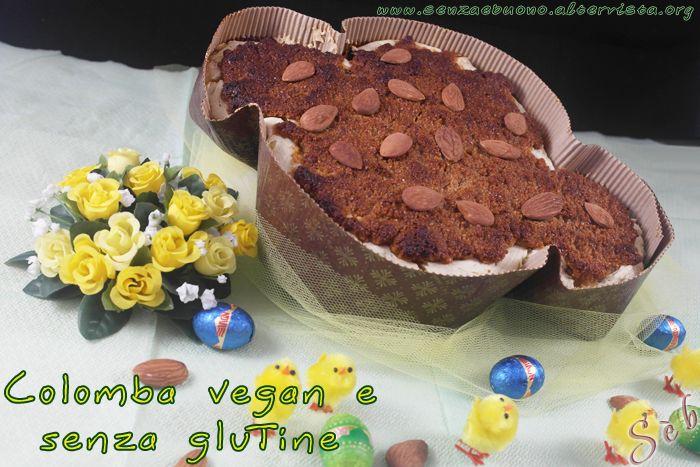 Colomba #vegan #senzaglutine con farine naturali, #sugarfree, a lunga lievitazione, con #lievitomadre gluten free http://senzaebuono.altervista.org/colomba-vegan-senza-glutine-lievito-madre/