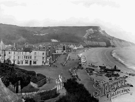 Seaton, looking east 1927, Francis Frith collection