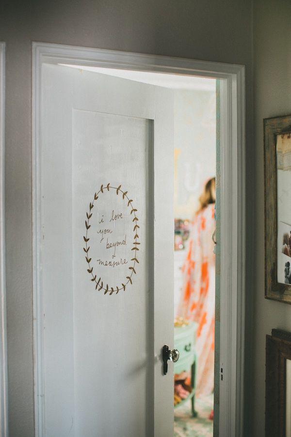 Laurels.: Vinyls Decals, The Doors, Paintings Doors, Shanna Murray, Wall Decals, Bedrooms Doors, Baby Rooms, Interiors Design Blog, Doors Quote