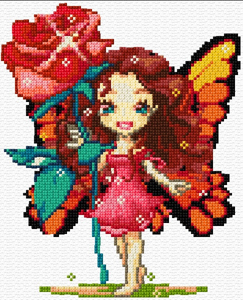 Cross Stitch | Fairy xstitch Chart | Design