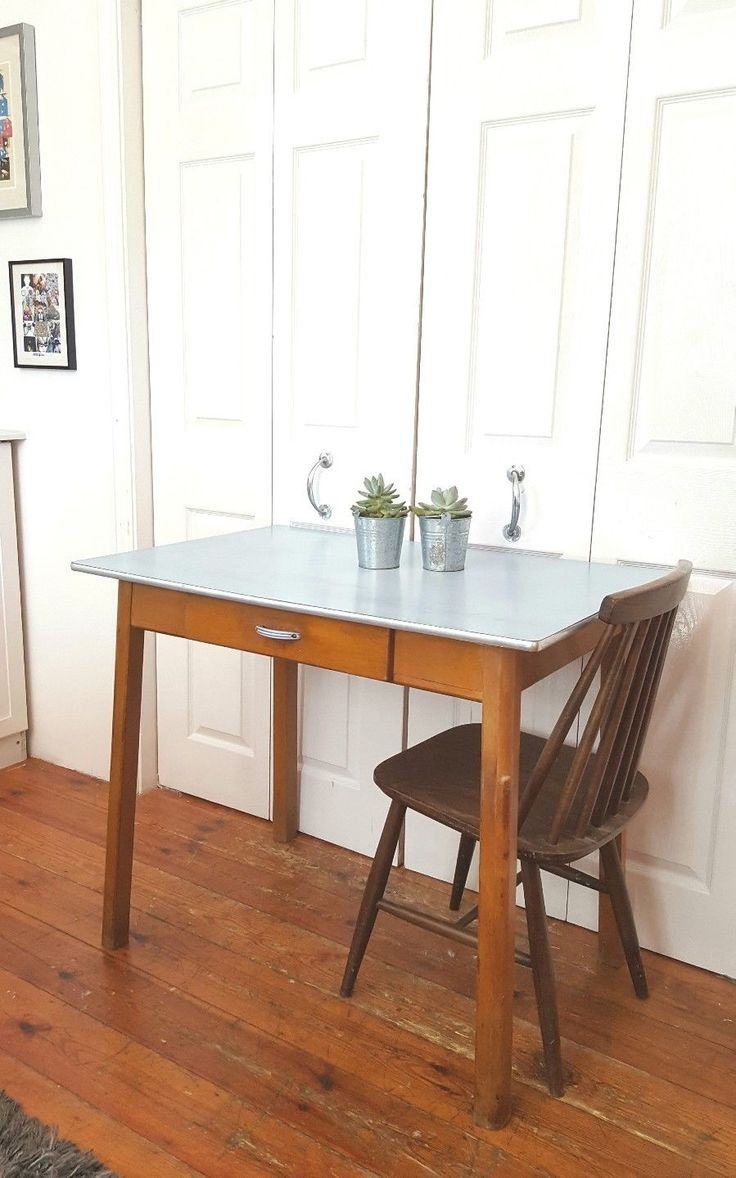 Blue Formica Dining Table