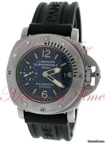 Panerai Luminor Submersible 1000m, Blue Dial, Limited Edition to 500 Pieces - Stainless Steel on Str Price On Request