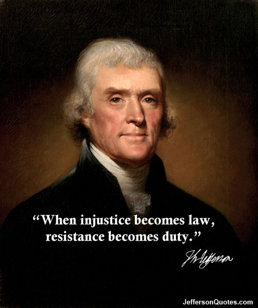 """This unfortunate race, whom we had been taking so much pains to save and to civilize, have by their unexpected desertion and ferocious barbarities justified extermination and now await our decision on their fate."" - Thomas Jefferson  The only good thing that man ever did was die and rot into the ground."