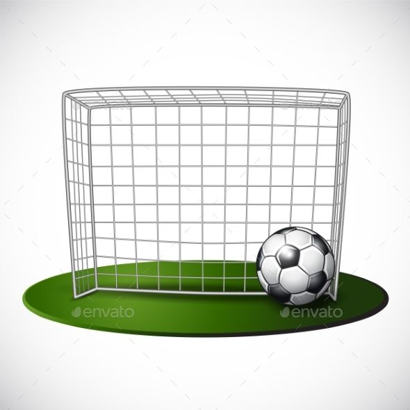 Ball On Soccer Goalpost With Net Background Cumple Cuadernos Gorditas