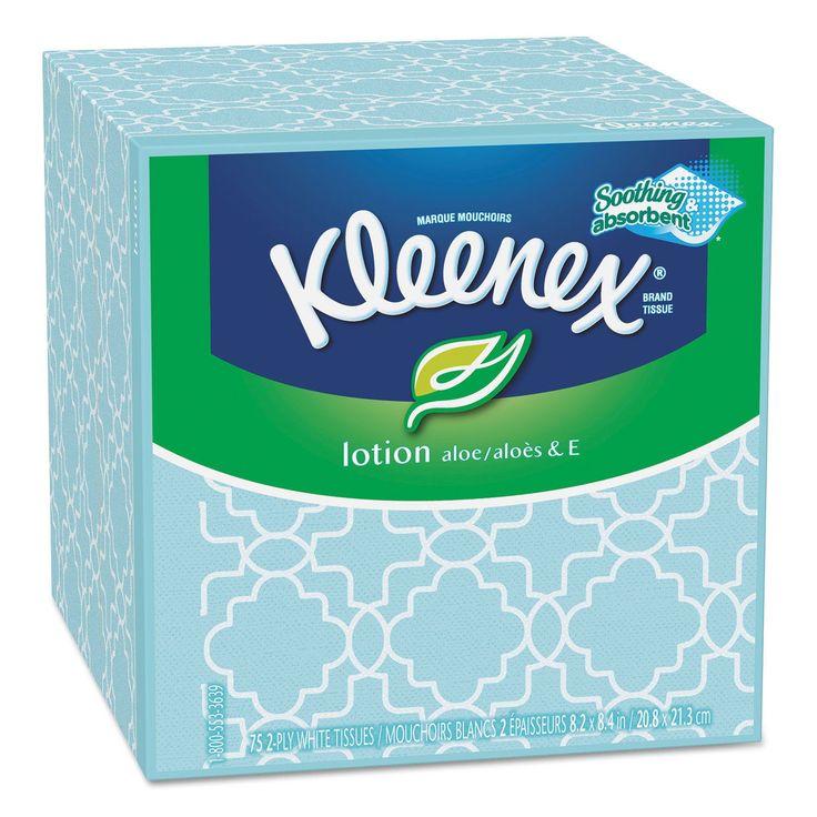 Kleenex Lotion 2-ply 75-sheet Facial Tissue Boxes