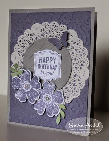 Stampin Up Flower Shop and Label Love stamp sets.