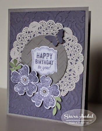 Stampin Up Flower Shop and Label Love stamp sets.