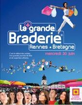 A RENNES, LA GRANDE BRADERIE  Un nouveau nom et un nouveau visuel et un bel évènement pour la stratégie Dumas Associés au service du Carrée Rennais.