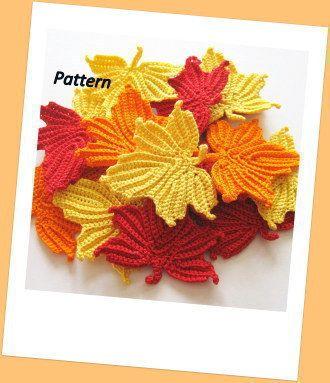 Maple Leaves Crochet Pattern | Crochet Pattern | YouCanMakeThis.com YouCanMakeThis.com