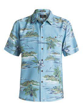 quiksilver, Men's Tavuki Short Sleeve Shirt, NIAGARA (bkt0)