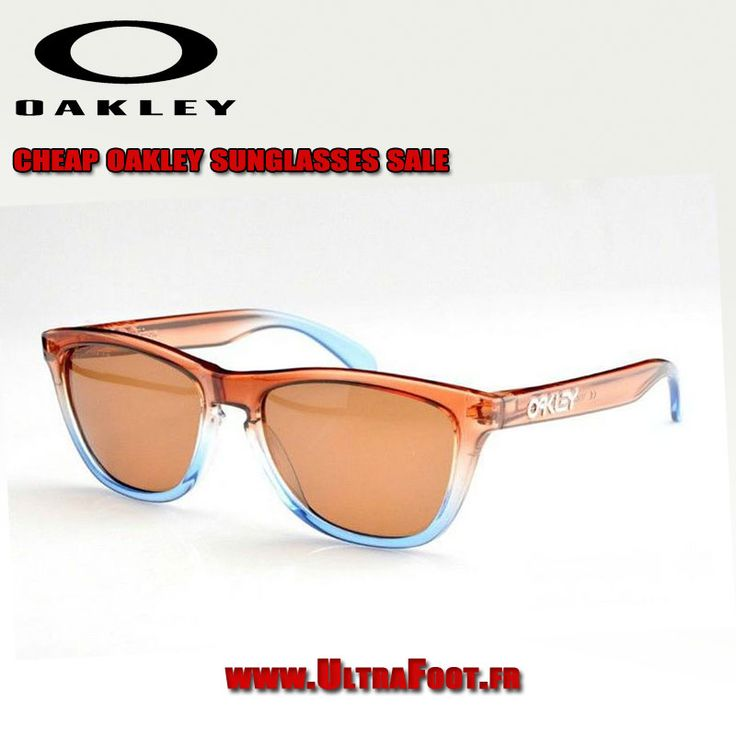 Oakley Frogskins Lunettes de soleil Crystal Brun Bleu Frame Bronz Lens oakleys 7195 ultrafoot
