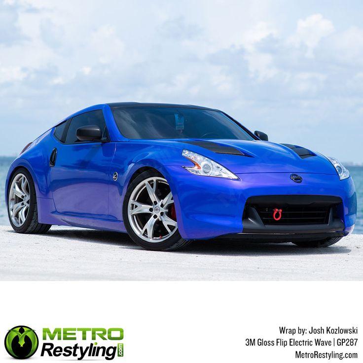 3M 1080 GP287 Gloss Flip Electric Wave car wrap vinyl is