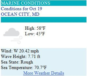 Ocean City MD Weather Forecast for Sunday, Oct 19 2014 - What the Ice Age is going on?! #ocmd