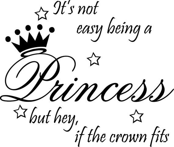 Not Easy Being Princess Decor Cute vinyl wall decal by Metohill, $4.79