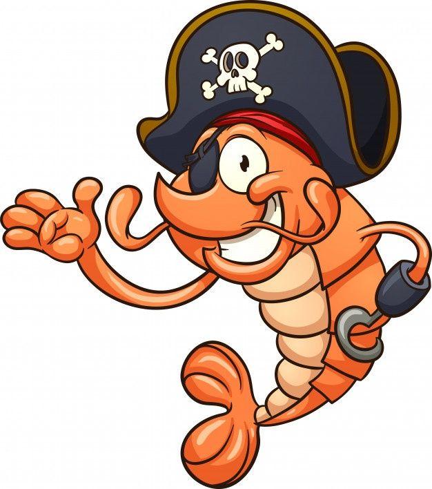 Camaron Pirata Vector Premium Premium Vector Freepik Vector Caracter Dibujos Animados Li Dibujos De Camarones Arte De Historietas Ilustracion De Piratas