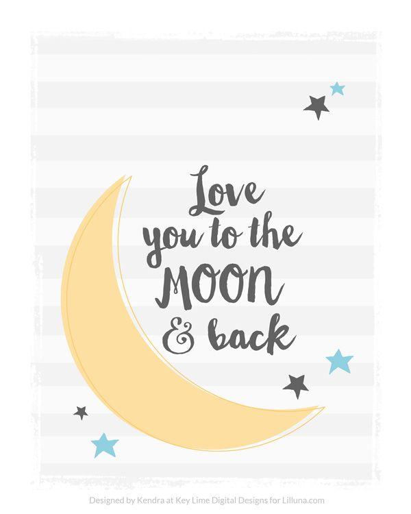 FREE Love you to the Moon and Back Printable on { lilluna.com }