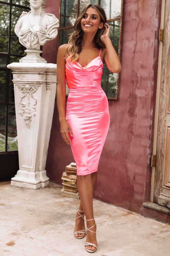 Kourtney Midi Dress Neon Pink CollectiveStyles.com ♥ Fashion ... 80146aeab