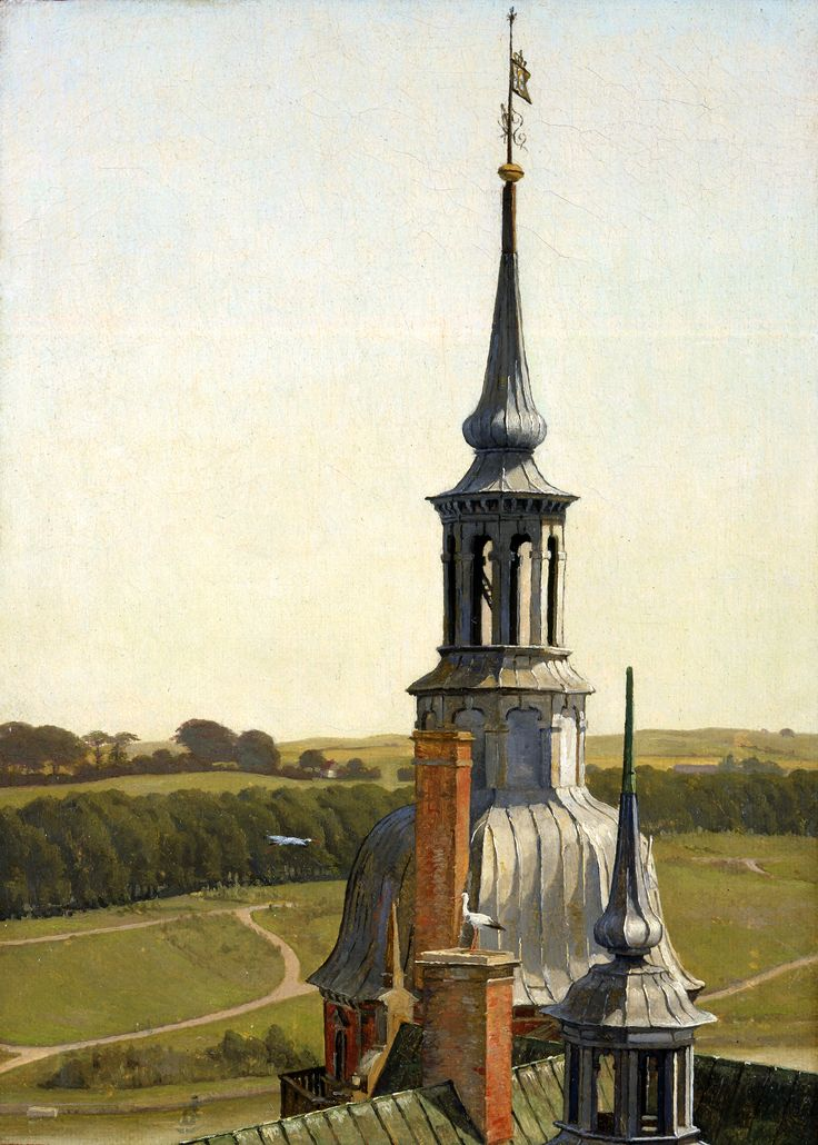 Christen Købke (Denmark) One of the Small Towers on Frederiksborg Castle, c. 1834 Oil on canvas 25.5 × 18.5 cm Inv. no. 20/1969