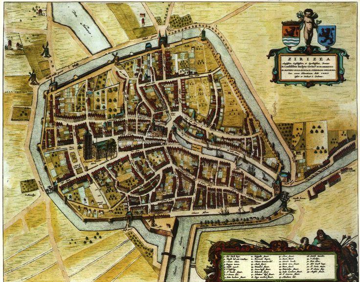 Stadsplattegrond van Zierikzee uit 1652 (en dat rijmt)