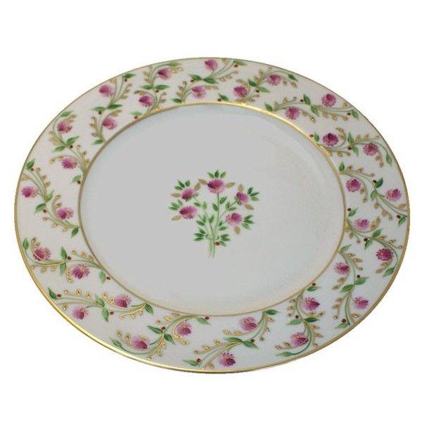 Assiette plate en porcelaine de limoges pompadour french - Decoration conseil limoges ...