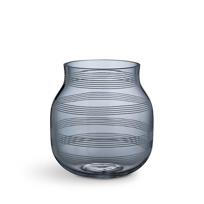Omaggio vase small steel blue