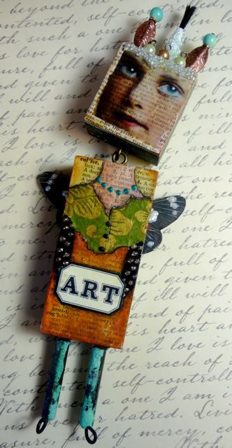 ~Lover-Lees Mixed Media Art Dolls Class by Laura Robberts ~Mary's Student…
