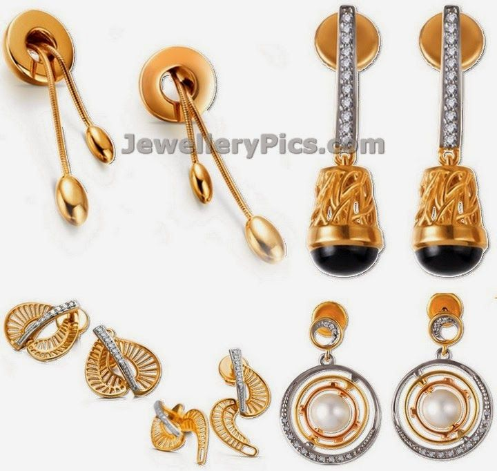 Gold earrings from tanishq Mia collection - Latest Jewellery ...