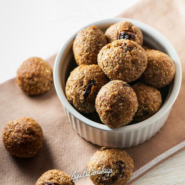 5 pomysłów na zdrowe, słodkie kuleczki bez cukru, glutenu i nabiału ⋆ AgaMaSmaka - żyj i jedz zdrowo!