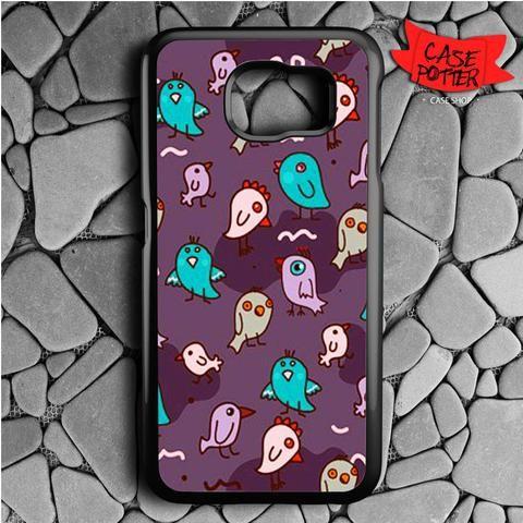 Pattern Little Chicken Samsung Galaxy S6 Black Case