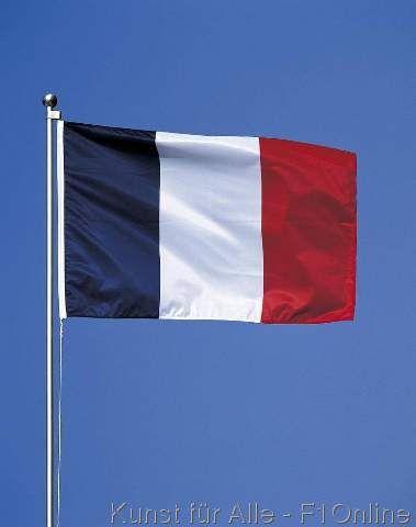 Französische Flagge Frankreich rot weiß blau Fahne Nationalflagge tricolore