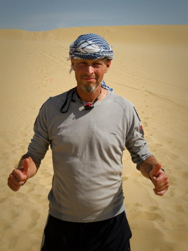 Thumbs up for the Sahara  #ThisIsNoVacation